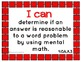 """Common Core Math Kid Friendly """"I Can"""" Statements for 4th Grade"""