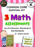 Common Core Math Assessments (Kinder)