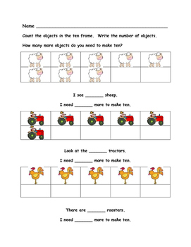 Farm Math - Numbers 1 to 10 - Kindergarten