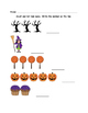 Halloween Math - Kindergarten - Numbers 1 to 5