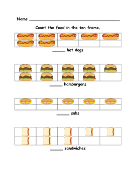 End of Year Math Review - Kindergarten -  Picnic Theme
