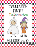 Halloween Math - Kindergarten - Numbers 1 to 10