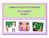 Common Core Math Kindergarten Rubrics