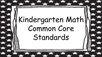Kindergarten Math Standards Posters on Black Star Frame