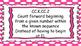 Kindergarten Math Standards Posters on Pink Polka Dot Frame