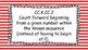 Kindergarten Math Standards Posters on Red Striped Frame
