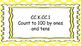 Kindergarten Math Standards Posters on Yellow Polka Dot Frame
