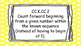 Kindergarten Math Standards Posters on Yellow Striped Frame