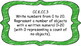 Kindergarten Math Standards Posters on Green Crayon Colored Frame