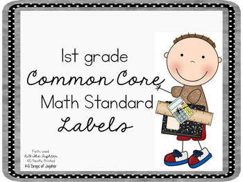 Common Core Math Labels