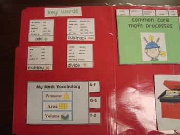 Common Core Math Lap Book