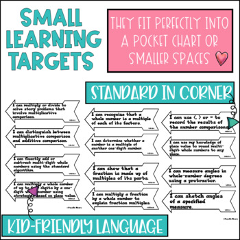 Common Core Math Learning Targets 5th grade