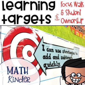 Common Core Math Learning Targets Kindergarten