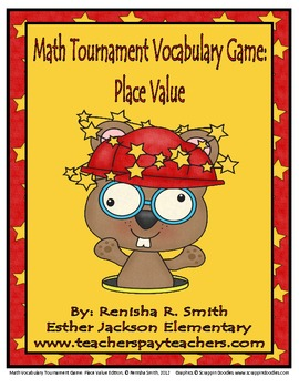 Common Core Math: Math Vocabulary Tournament Game-Place Value