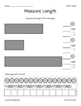 Common Core Math: Measure Length (Grade 1)