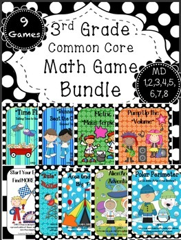 Measurement Game BUNDLE Time, Volume, Mass, Area, Perimeter