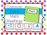 Common Core Math Meetings Unit 3
