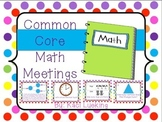 Common Core Math Meetings Unit 4