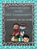 Common Core Math Mini Assessments