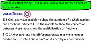 Common Core Math Mod2 Lesson 2 Division of Whole Number by Fraction