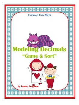 """Common Core Math """"Modeling Decimals"""" Game and Sort"""