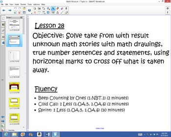 1st Grade Common Core Math Module 1 Topic H Lessons