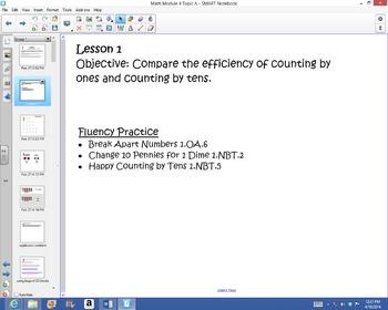 1st Grade Common Core Math Module 4 Topic A Lessons