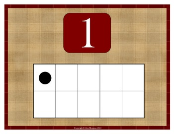 Common Core Math Number Posters 1-10 with Tens Frame
