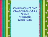 Common Core Math Objectives (Operations and Algebraic Thinking) Stripes
