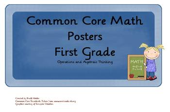 Common Core Math Objectives Posters: Operations & Algebraic Thinking: 1st Grade