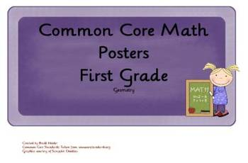 Common Core Math Objectives Posters for Geometry in First Grade