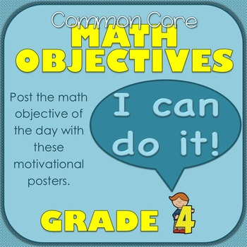 Common Core Math Objectives for Grade 4