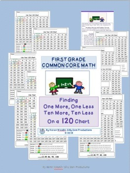 One More Less Ten More Less on a 100 and 120 Chart BUNDLE