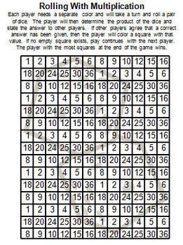 Addition, Subtraction, Multiplication, Division - Common Core Fun Game