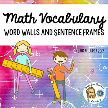 Common Core Math Vocabulary Word Walls and Sentence Frames Bundle