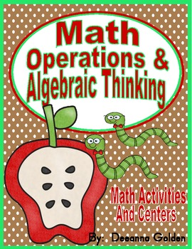 Common Core Math- Operations and Algebraic Thinking