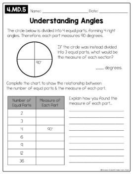 Open-Ended Math Pages - 4th Grade