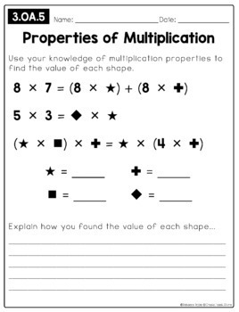Open-Ended Math Pages - 3rd Grade