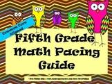 Common Core Math Pacing Guide -Grade 5-