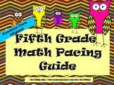 Common Core Math Pacing Guide -Grade 5-