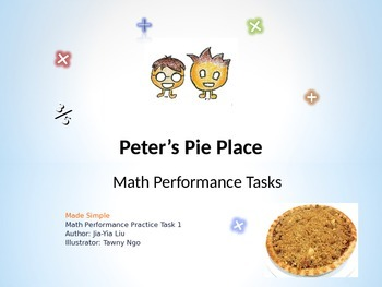 PowerPoint Common Core Math Performance Task Lesson 1