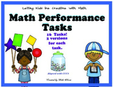 Common Core Math Performance Task for 1st Grade with Rubric