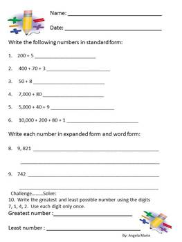 Common Core Math Place Value