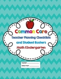 Kindergarten Common Core Math Checklists and Student Rosters