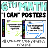 6th Grade Common Core (CCSS) Math Posters