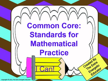 Common Core Math Posters: Standards for Mathematical Practice {Intermediate}