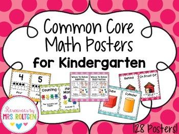 Common Core Math Posters for Kindergarten
