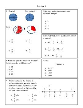 Common Core Math Practice Grade 5