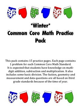 Common Core Math Practice Pages