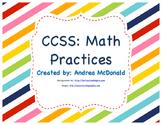 Common Core Math Practice Posters Rainbow